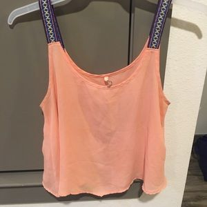 Peach, flowy tank top